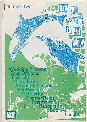 Are You Scared To Get Happy? Fanzine issue 2 1986 – C86, Punk Rock – A4 36p G-VG
