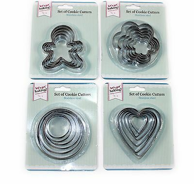 6Pc Cookie Cutter Set Stainless Steel Egg Mould Fondant Sugarcraft Gingerbread