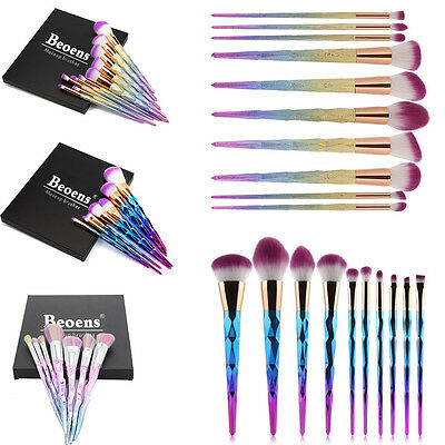 8/12/15PCS Sale Complete Make Up Brush Set Bag Makeup Powder Foundation Brushes
