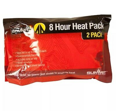 Summit Disposable Hand Warmer 2 Pack, Heat Pack, Heater, Camping, Winter.