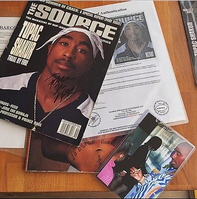 Tupac Shakur 2pac signed autograph the source magazine 100% Authentic certified