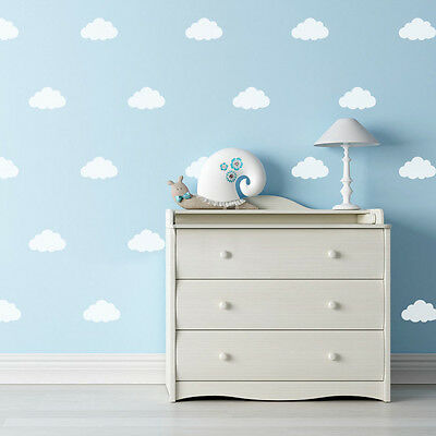 Nursery Wall Stickers Cloud Sky Heaven Baby Boy Idea Individual Decal Decor