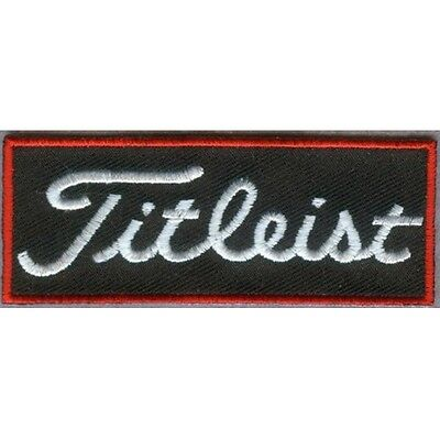 Golf Patch Black Red Embroidered Iron / Sew on Badge Applique Quality FREE POST