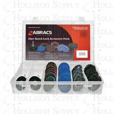 25pc Quick-Lock Accessory Pack - Backing Pads,Polirico/Sanding/Poly/Flap discs