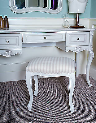 French White Seat Stool Bench Seat Shabby Chic Bedroom Dressing Table Cream