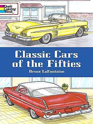 Dover Coloring Books, Adult Coloring Books Cars, Classic Cars of the Fifties