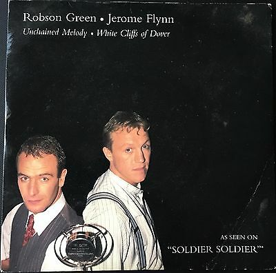 ROBSON GREEN / JEROME FLYNN - UNCHAINED MELODY  b/w  THE WHITE CLIFFS OF DOVER