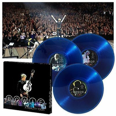 DAVID BOWIE - A REALITY TOUR 180Gr Blue Vinyl 3 LP Box Set Limited  SEALED