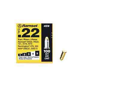 Ramset 0.22 Caliber Yellow Steel and Concrete Single Shot Powder Loads(100 Pack)