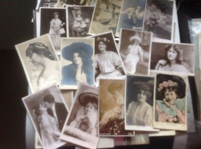 VINTAGE POSTCARDS ACTRESSES   Actors EDWARDIAN , Early 1900's  Look 33 In Lot.