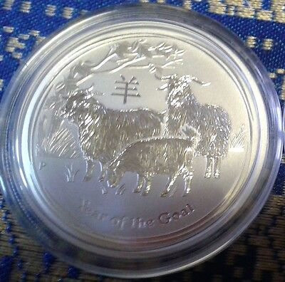 1/2 Oz Pure Solid Silver Coin, Year Of The Sheep, 2015, Purity 99.9%