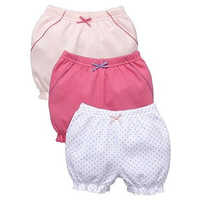 Baby Girl White Pink Cotton Bloomers Pants Knickers by Ladybird 9-12-18-24 mths