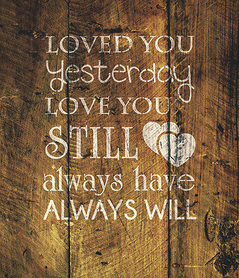 """""""Loved You"""" Love Quote Valentines Day Stencil Art Painting Airbrush Mylar A4 #LY"""