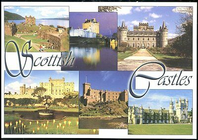 Postcard Of Scottish Castles  -  Six Views