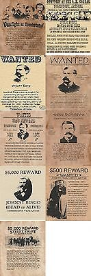 Gunfight At Tombstone~Old West,wanted,poster,tombstone,earp