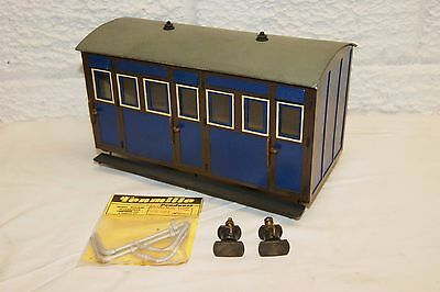 16mm Narrow Gauge SM32 Kit or Scratchbuilt 4 wheel Coach Blue WELL MADE