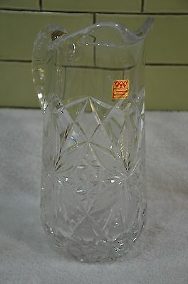 "Nachtmann Bleikristall Cut Crystal water pitcher 9.5"" tall (11)"