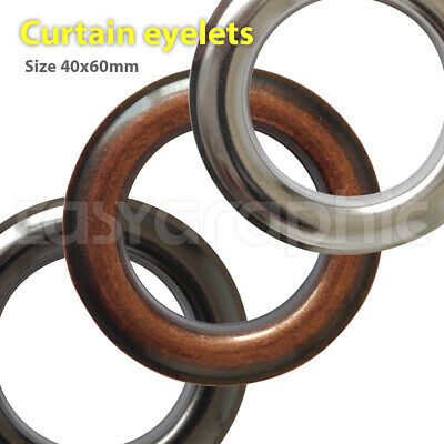 Stainless Steel Curtain Eyelets, 39x61mm Metal Large Big Grommets Non-rust