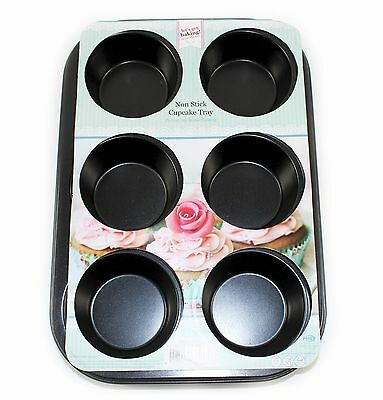 6 Cup Tin Muffin / Bun Tray Non Stick Baking Cupcake Cake Cup Tray Yorkshires
