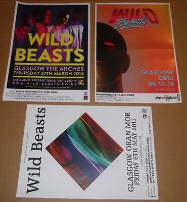 Wild Beasts POSTERS - collection of 3 tour concert / gig poster