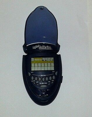 RADICA Electronic Handheld LIGHTED SOLITAIRE Fliptop Game (2003)
