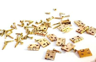 Miniature Furniture Hinges Small Dolls House Hinges Brackets UK STORE