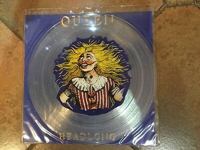 "Queen Headlong 12"" Clear Vinyl with picture insert . UK Limited Edition. MINT."