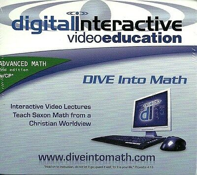 DIVE Instructional CD-ROM Saxon Advanced Math - 2nd Edition NEW-