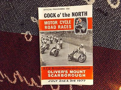 1977 Olivers Mount Motor Cycle Programme 3/7/77 - Cock O The North
