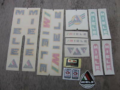 Miele Racing Bike Bicycle Black Decal Sticker Decals Set Vintage Not Remade!!