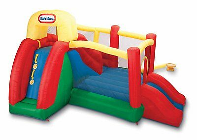 Little Tikes Double Fun Slide N Bounce BOUNCER Outdoor KIids INFLATABLE SLIDE