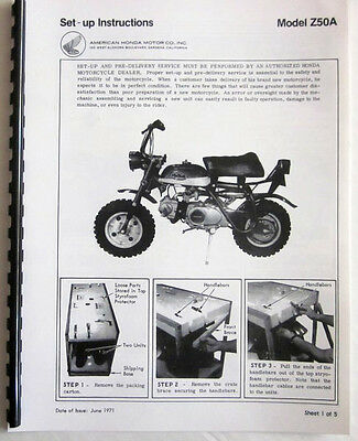 HONDA - z50a - Factory assembly and set up manual