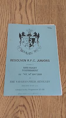 Resolven RFC 2000 Mini Festival Rugby Programme
