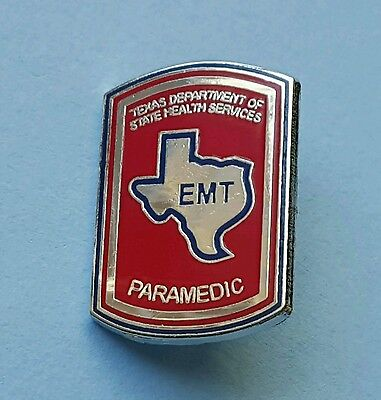 """TEXAS PARAMEDIC PIN..1"""" in size, Pin Back-Butterfly Attachments"""