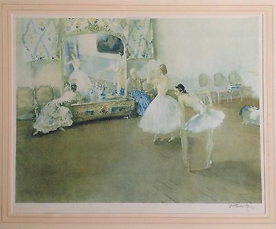Original Sir Russell Flint RA Signed Limited Edition Print Mirror Of The Ballet
