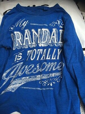 Baby Boys NEXT Grandad Is Awesome Long Sleeve T Shirt 1 1/2-2 Years Old 18-24 Mo