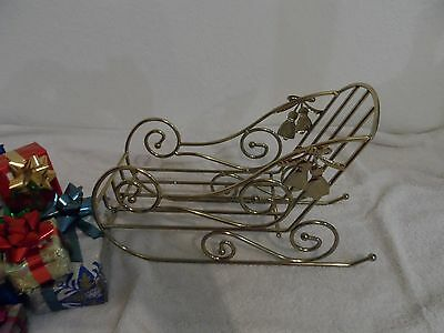 Christmas Clearance - Gold Sleigh With Gifts