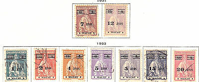 Macao - Portuguese Colonies - China - Scott 259-267- Complete Set - Look!