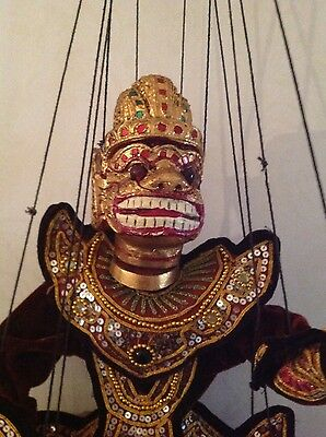 Hand made Warrior puppet from Burma / Myanmar