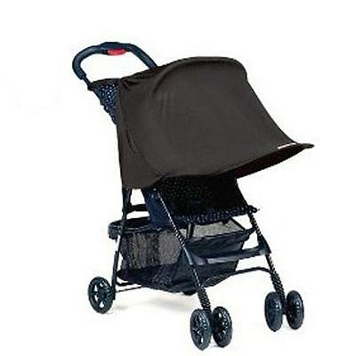 BABY SUN SHADE BLACK FOLDING  UP UV CANOPY PARASOL HOOD for BUGGY or STROLLER