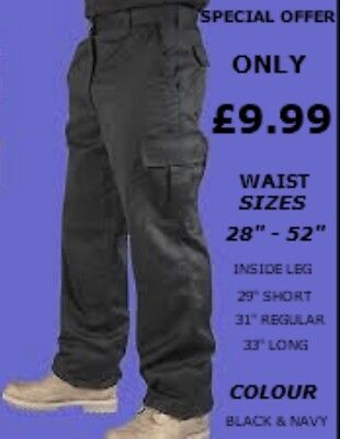 """price Value"" Unisex Cargo Combat Work Mechanic Industrial Driver Trousers"