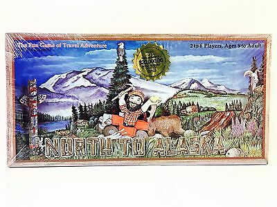 Vintage North To Alaska Board Travel Game New Sealed 1984 Deluxe Edition