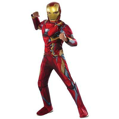Marvel's Captain America: Civil War Deluxe Iron Man Muscle Chest Costume L 12-14
