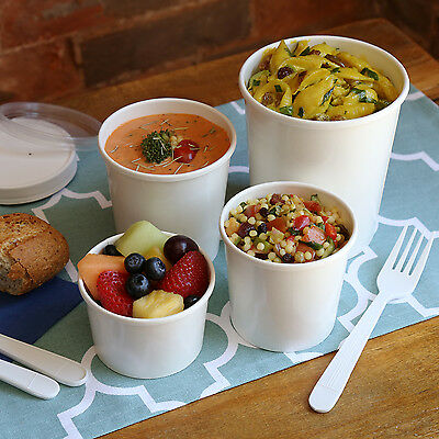 Royal Hot/Cold Paper Side Soup Ice Cream Salad Food Containers and/or Lids