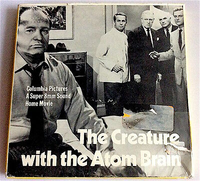 SUPER 8mm Film -  THE CREATURE WITH THE ATOM BRAIN    - B/W  - SOUND - 400FT