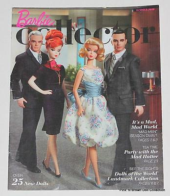 "BARBIE COLLECTOR Catalog Summer 2010 Cover: 4 Silkstone ""Mad Men"" Cast Dolls"
