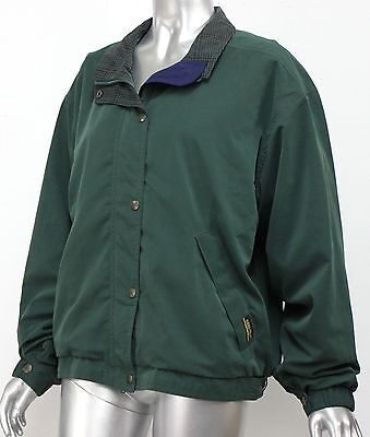 Womens TOURNEY M GORE TEX Golf Jacket Green Houndstooth Collar