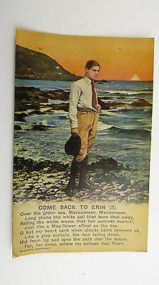WW1 Vintage Bamforth Postcard Come Back To Erin Ireland Gaelic Irish Folk Song