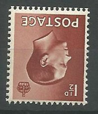 1936 Edward VIII SG459wi Inv. Wmk. 11/2d Red-brown Unmounted Mint