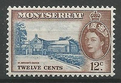 MONTSERRAT 1953-62 SG144 12 cents Blue and Red-Brown Unmounted Mint